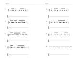6/8 Triple Rhythm Pattern Reading/Writing Sheet