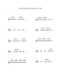 6/8 Triple Rhythm Pattern Sheet
