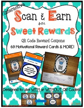 Reward Coupons~ 69 Interactive Scan & Earn QR Codes ~Use with or without QR Code