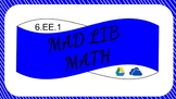 6EE1 Digital Mad Lib Math Activity (Order of Operations)