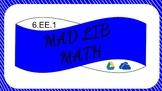 6EE1 Digital Mad Lib Math Activity (Order of Operations)
