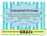 6EE2A Evaluating Formulas