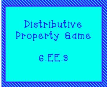 6.EE.3 Distributive Property Game