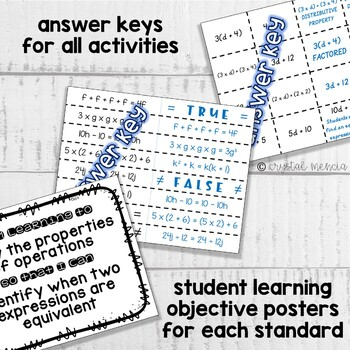 6EE4 Identify Equivalent Expressions (Interactive Notebook Series)