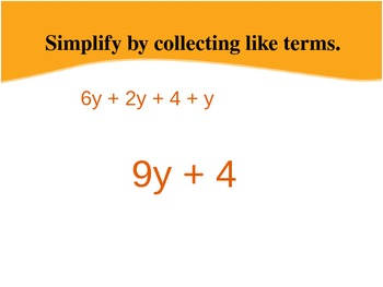 6.EE.4 Simplify Expressions by Collecting Like Terms, Equivalent Expressions