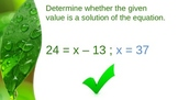 6.EE.5 Equations and Inequalities PPT