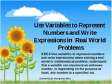 6.EE.6 Using Variables to Write Expressions - Real World S