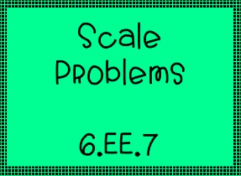 6.EE.7 Scale Problems for Equation Understanding