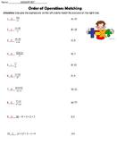 6EEA1 Order of Operations Practice and Quiz
