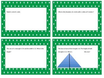 6.G. Geometry Task Cards!!