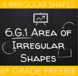 6.G.1 Area of Irregular Shapes