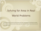 6.G.1 Finding Area in Real World Situations