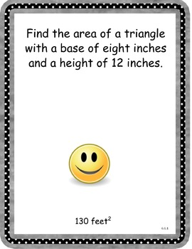 CCSS 6.G.1 and 6.G.3 Geometry Finding Area Scavenger Hunt Activity