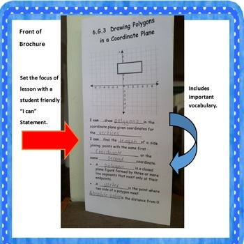 6.G.3 Drawing Polygons in a Coordinate Plane Foldable includes Task Cards
