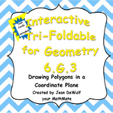 6.G.3 Drawing Polygons in a Coordinate Plane Foldable incl