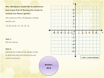 6.G.3 Polygons on Coordinate Plane, Finding Length of Sides