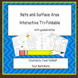 6.G.4 Nets and Surface area Foldable with Guided Notes