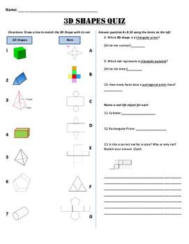 6GA4  3D Shapes Quiz
