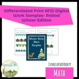 6M-NSCE 1a Winter Ratio Work Samples- VAAP and SPED!