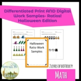 6M-NSCE1a Halloween Ratio Work Samples- SPED and VAAP!