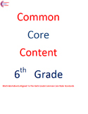 6.NS. Number System All Standards 6th Grade Common Core Ma