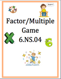6.NS.4 Factors and Multiples Game