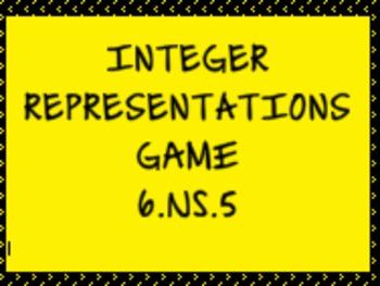 6.NS.5 Integer Representations Game