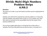 6.NS.2 Divide Multi-Digit Numbers Problem Strips