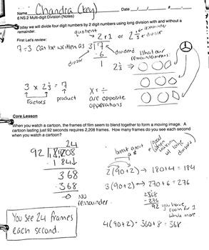 6.NS.2 Division Algorithm - Introduction