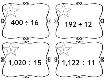 6.NS.2 Task Cards (Fluently Divide Multi-Digit Numbers)