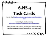 6.NS.3 Task Cards (Add, Subtract, Multiply, Divide Decimals Fluently)