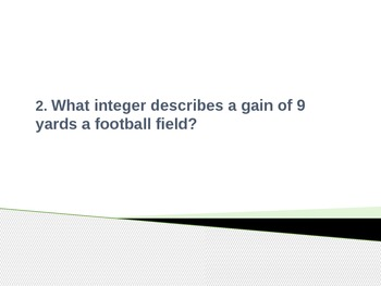 6.NS.5 Common Core Name the Integer PPT