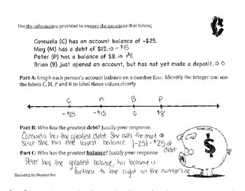 6.NS.7 -  Absolute Value with Balance and Debts (6.NS.5)