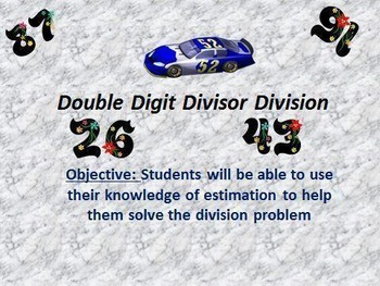 6NSB2 Double Digit Long Division with Decimal Divisor Extension
