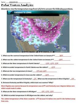 6NSC7 Identifying Integers from Polar Vortex Temperatures