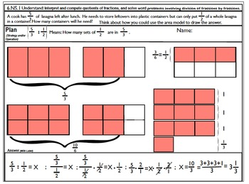 6.NS.1 Part II Solve word problems involving division of fractions.