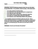 "6th Grade Ratios ""I can"" Evaluation Activity"