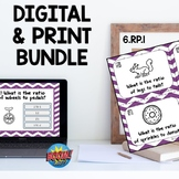 6RP1 Ratios and Proportions Boom Cards™ and QR Print BUNDLE