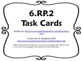 6.RP.2 6.RP.3b Unit Rate Task Cards w/ Real World Problems