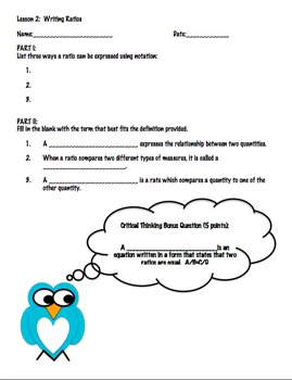 6.RP.A.1 FULL Lesson Plan with activities