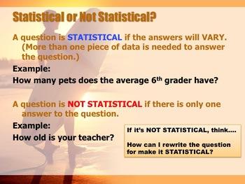 6.SP.1 Statistical Questions Bundle (2 Lessons)