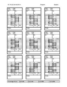 6T-1R-2S Sim Alt Fill In Data Sheet