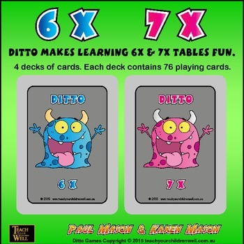 6X and 7X tables fun with Ditto