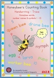 HANDWRITING BOOKLETS: HONEY BEE WORDS & PICTURES & NUMBER 1 - 10 - MEDIUM-6b2B