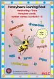 HANDWRITING BOOKLETS: HONEY BEE WORDS & PICTURES & NUMBER 1 - 10 - MEDIUM-6b2C