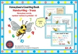 HANDWRITING CARDS:HONEYBEE'S COUNTING BOOK-VOL 6-COLORED PICTURES-WHITE BGR-6cA