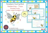 HANDWRITING CARDS:HONEYBEE'S COUNTING BOOK-VOL 6-COLORED PICTURES-WHITE BGR-6cB