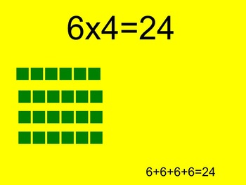 6's Multiplication Facts Interactive PowerPoint with Graphic Organizer and Quiz