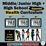 Middle/Jr. High AND High School Sequential Health Curriculum: 4 Health Programs!