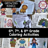 6th, 7th and 8th Grade Coloring Activities